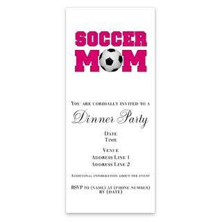 Soccer Mom   Hot Pink Invitations by Admin_CP1135630