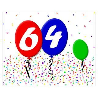 64Th Birthday Party Gifts & Merchandise  64Th Birthday Party Gift