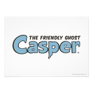 Casper the Friendly Ghost Blue Logo 2 Custom Invite