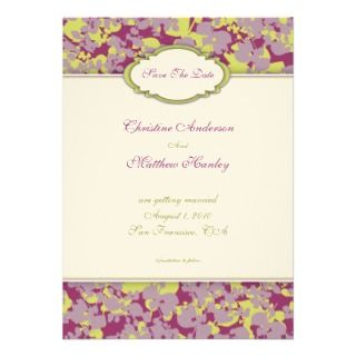 Four Seasons save the date Card Announcement