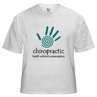 Mens White T shirts  Chiropractic By Design