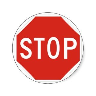 Stop Street Road Sign Symbol Caution Traffic Stickers