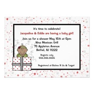 Sparkle Red & Black Baby shower Invitation