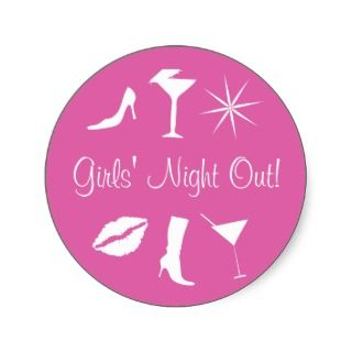 Girls Night Out Envelope Sticker Seal