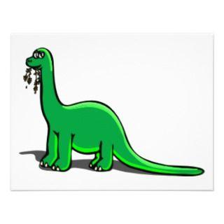 Cartoon Dinosaur Eating Announcement