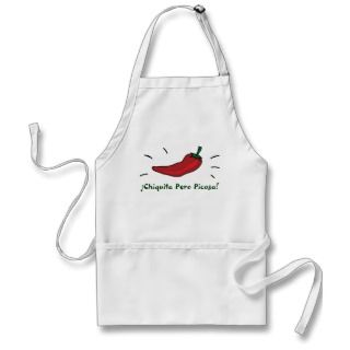 ChiliPepper, ¡Chiquita Pero Picosa! aprons by QuePartyTanFancy