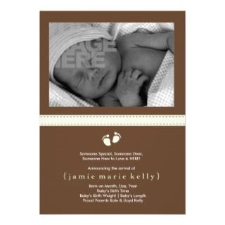 Baby Steps Birth Announcement   Mint