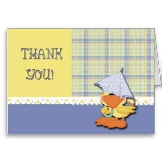 Thank You Baby Shower Duck Cards