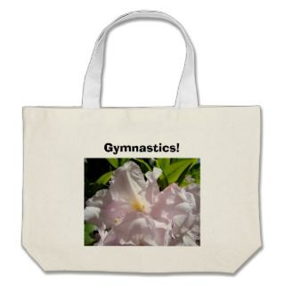 Gymnastics tote bag Sunlit Pink Rhodies Flower