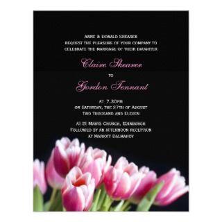 Beautiful Pink Tulips Wedding Invitation