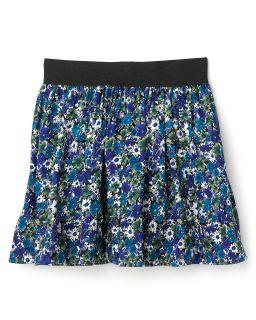 Aqua Girls Floral Print Skirt   Sizes 8 14