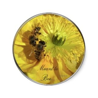 Yellow Wedding Flowers Invitation Seals Sticker