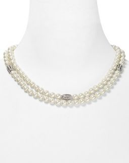 Ralph Lauren Two Row Open Crystal Necklace, 19