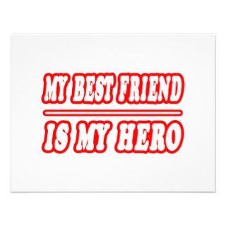 My Best Friend Is My Hero Custom Invitation