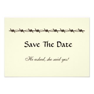 Rustic Barbed Wire Save The Date Card Personalized Announcement