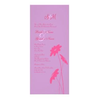 Hot Pink and Purple Wildflowers Wedding Invitation