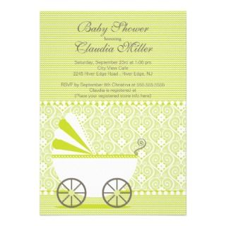 Modern Baby Carriage Baby Shower Invitation