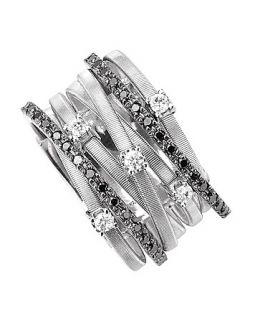 Marco Bicego Goa Black Diamond White Gold Ring