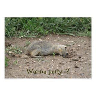 Gopher, Prairie Dog Wildlife Invitation Cards