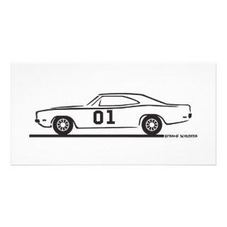 1969 Dodge Charger General Lee Phoo Card emplae