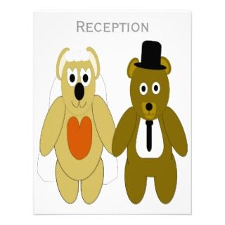 Teddy Bears Evening Reception Announcement