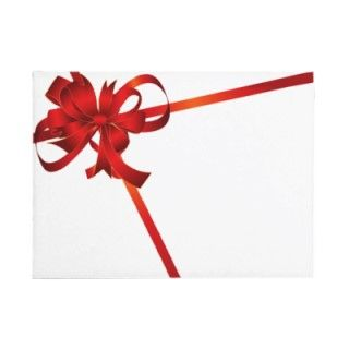 Red Ribbon Christmas Greeting Card Envelopes