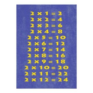 Times Table Collectible Card Invitation