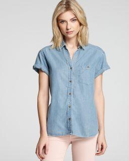 current elliott denim shirt the camp price $ 198 00 color breaker size
