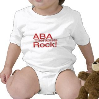 ABA Therapists Rock (Red) Shirts