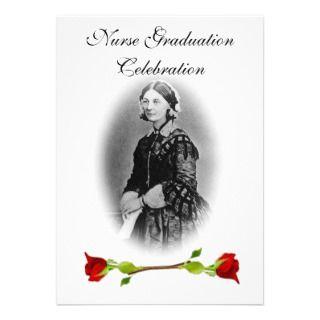 Graduation Celebration Florence Nightingale Personalized Invitation