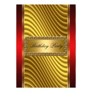 Gold and Red Art Deco Invitation