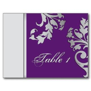 Wedding Card   Purple & Silver Custom Invitations