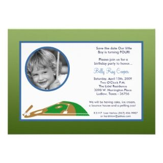 5x7 Boy Sports Baseball Baby Shower Invitation