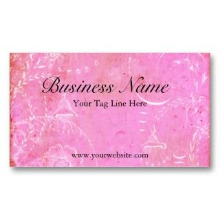 French Pink Toile Vintage Elegance Business Cards