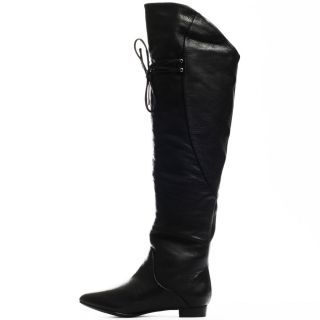 Thigh Boot   Black Leather, Fergie, $198.99