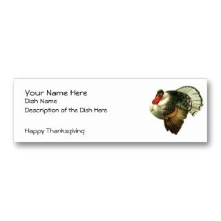 Thanksgiving Recipe Card Business Card Templates