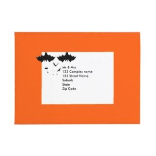 Halloween invitation envelopes   vampire bats