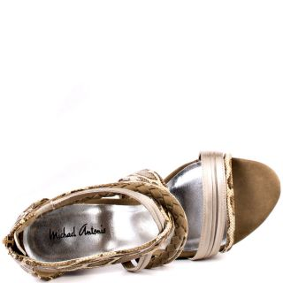 Michael Antonios Multi Color Tochi   Tan Satin Rep Pu for 74.99