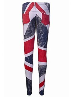 Religion Union jack print leggings Red   House of Fraser
