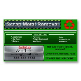 Sylish Scrap Meal Removal Business Card