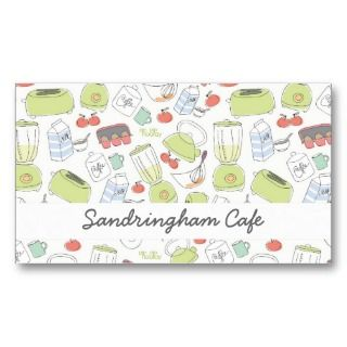 Hospitality Food Breakfast Cafe Business Card