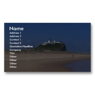 Nobly Beach And Light House In Newcastle Business Card