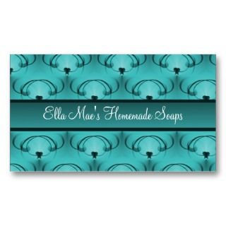 Refined Elegance Business Card, Teal