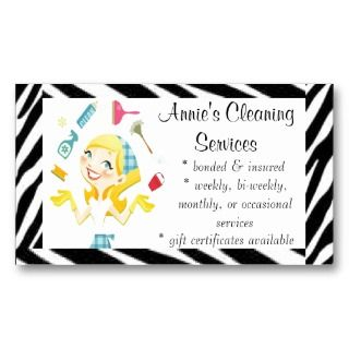 Cleaning services Bubbles business card