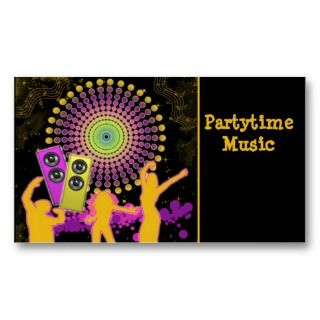 Music Dance Business Card