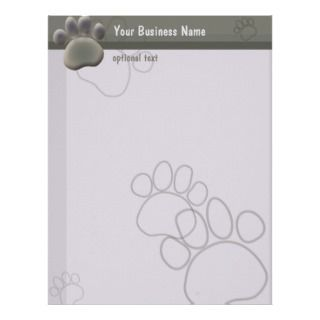 Paw Tracks Veterinarian Business Letterhead