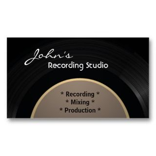 Vintage Vinyl Recording Studio Business Card