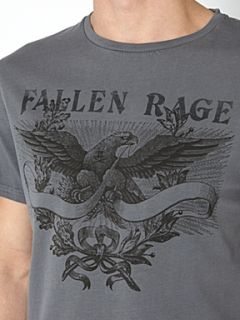 Label Lab Eagle wreath print graphic T shirt Light Grey