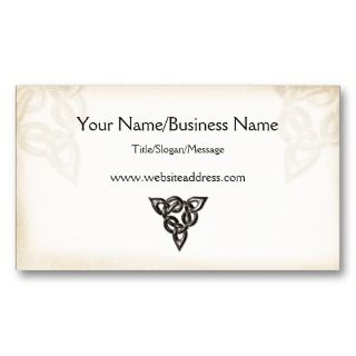 Celtic Symbol Design Business Card