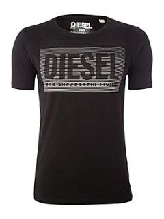 Diesel Logo printed T shirt Blue